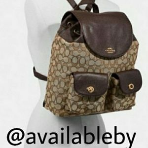 Coach Billy Backpack Signature Jacquard F30275